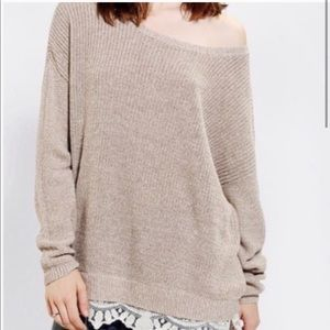 Pins and Needles Lace Bottom Sweater